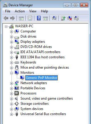 Generic PnP Monitor listing in Device Manager