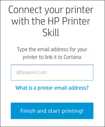 Type your printer's HP ePrint email address