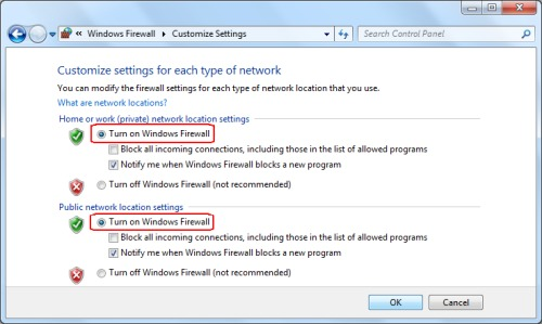 how to disable firewall in windows 7 enterprise