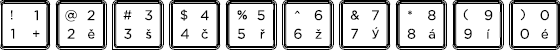 Czech keyboard top row detail