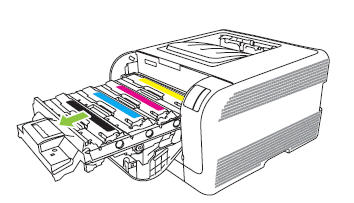 Illustration: Pull out the print cartridge drawer.
