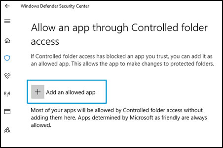 Choose apps that can access your files and folders