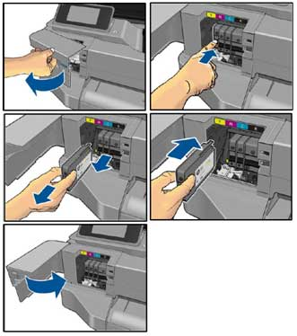 Image: Installing HP 711 cartridges