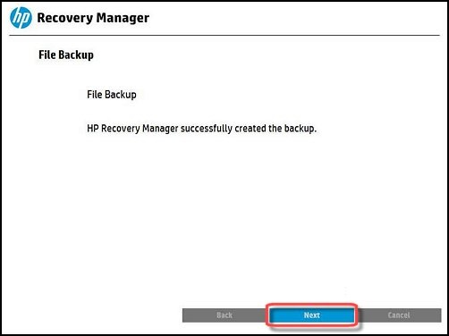 Image of  Data backup complete