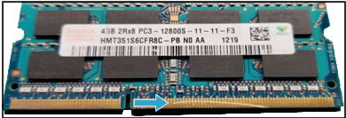 Example of RAM PCB damage