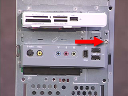 Screw to remove to release the I/O panel from the computer