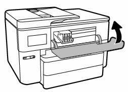 Image: Closing the ink cartridge access door
