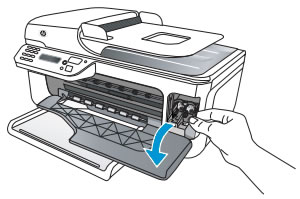 Image: Opening the ink cartridge access door