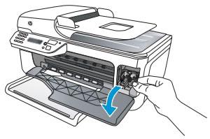 Imagen: Apertura de la puerta de acceso a los cartuchos de tinta