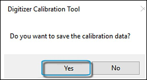 Digitizer Calibration Tool