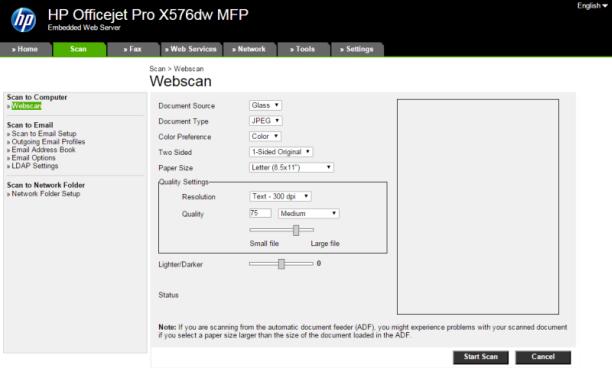 HP OfficeJet Pro X series - HP Embedded Web Server (EWS