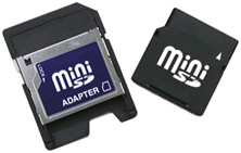 Image: Mini SD card with adapter