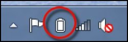 Battery power meter icon