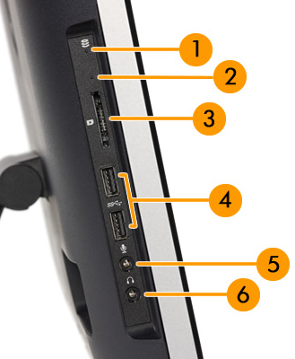 Image of left side I/O ports