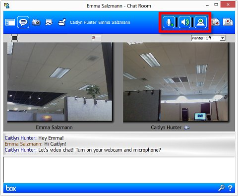 Image of video chat in MyRoom