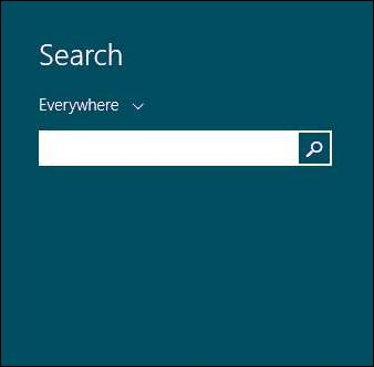 Searching in Windows 8