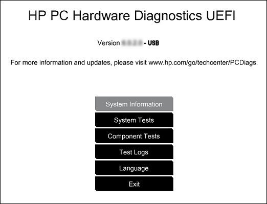 HP 2000-250CA System Diagnostics UEFI Driver for Windows Mac