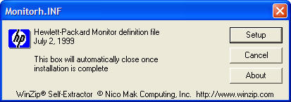 Monitor INF file window