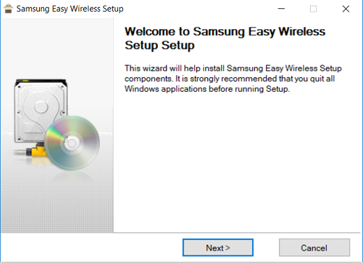 Image show Installation the Easy Wireless Setup application
