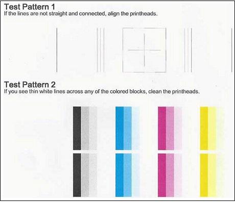 Imagen: Informe de diagnóstico de calidad de impresión