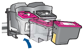 Illustration of inserting the cartridge
