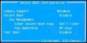 Image of Secure Boot Configuration