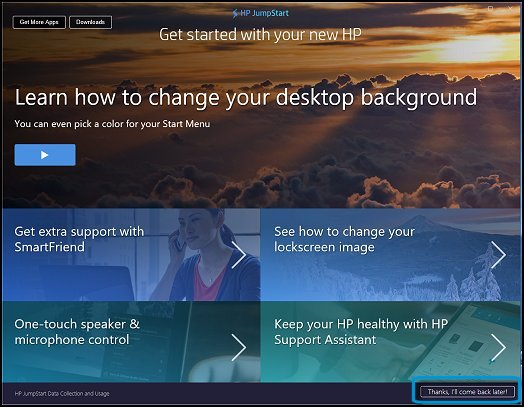 HP PCs - Using HP JumpStart (Windows 10) | HP® Customer Support