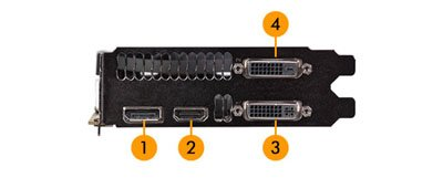 Image of graphic card ports