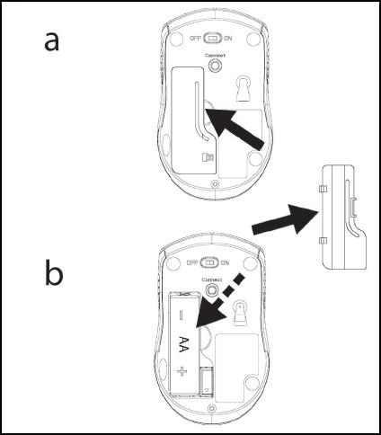 Insertar la batería y volver a colocar la cubierta