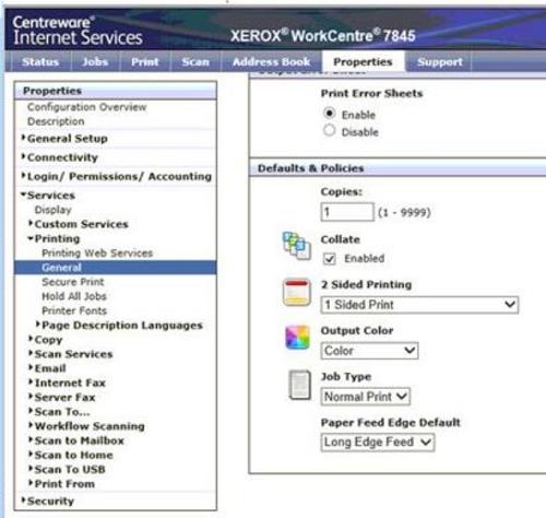 HP PrinterOn Enterprise - PrinterOn color print jobs