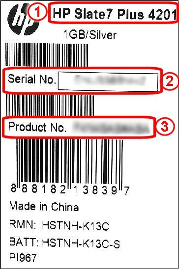 Service label on packaging