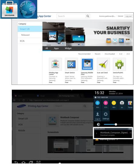 Samsung Printing App Center: Apps and Widgets | HP® Customer Support