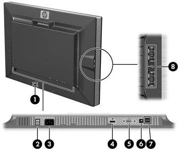 HP ZR30w LCD Monitor - Setting Up the Monitor | HP® Customer