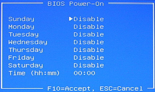BIOS Power-On screen