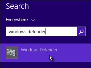 Search results for Windows Defender