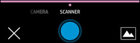The Scanner option selected for scan type