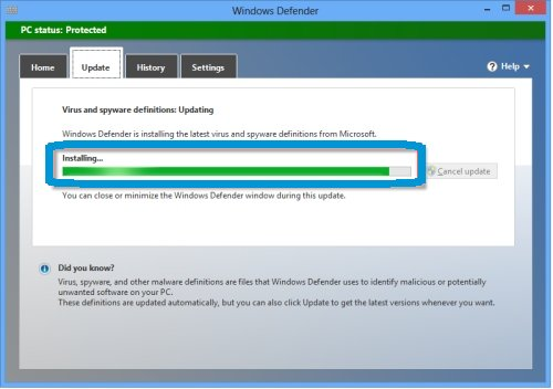 HP PCs - Using Windows Defender to Prevent Virus and Spyware
