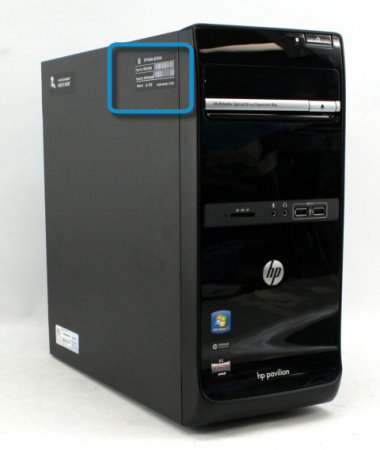 Labels On The Side Of Computer Case