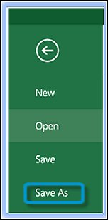 Microsoft Office Save As menu