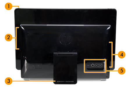 Image of the back of the system