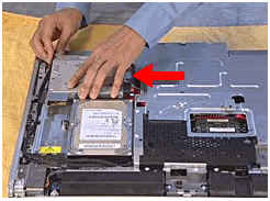 Slide the disc drive back into place
