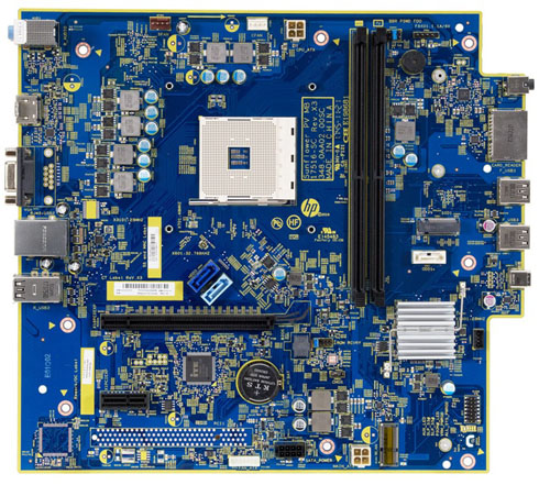 Sunflower motherboard top view