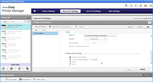 Samsung Çok İşlevli Lazer Yazıcılar - Easy Printer Manager ...