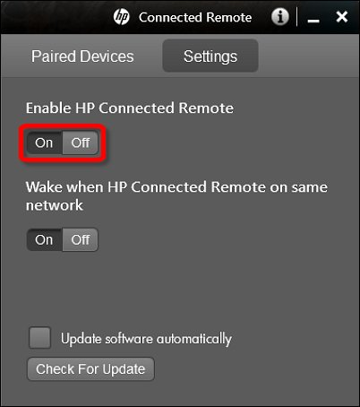 Activer HP Connected Remote
