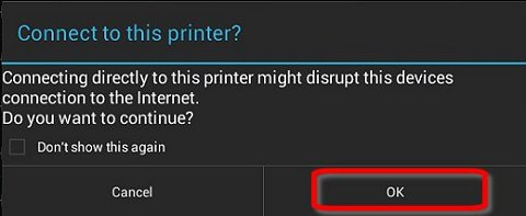 Connect to this printer