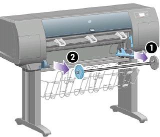 hp designjet 4000 printer series paper loading and unloading hp rh support hp com hp designjet 4000ps user manual hp designjet 4000 service manual download