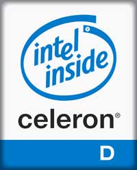 Image of Intel Celeron D logo