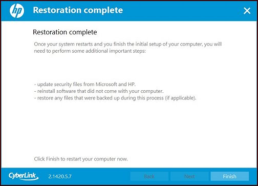 Illustration : Restauration terminée
