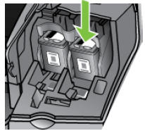 Illustration of removing the cartridges