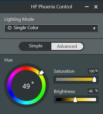 HP PCs - Configuring the LED Lighting with the HP Phoenix Control
